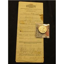 "1878 ""Application for a Loan Through the New England Loan and Trust Company, Des Moines, Iowa with a"