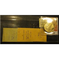 "(2) pieces of Scrip from ""Swanson's Bakery…Cedar Rapids, Iowa"", 1900 era; & 1941 S Walking Liberty H"