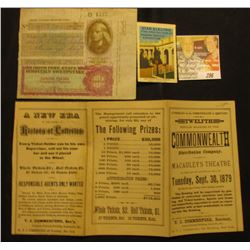 "1937 ""The Derby Irish Free State Hospital's Sweepstake"" Ticket B 4577; brochure ""Twelfth Popular Dra"