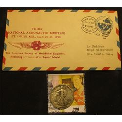 "Prestamped 5c Cover ""Third National Aeronautic Meeting St. Louis, Mo. May 27-30, 1929 flight from St"