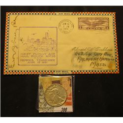 "Stamped Cover with Post Mark ""First Flight Air Mail Route AM 20 P.O.D. Memphis Tennessee June 15 193"