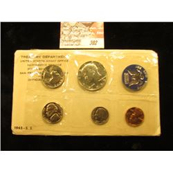 1965 U.S. Special Mint Set with Silver Half, original as issued.