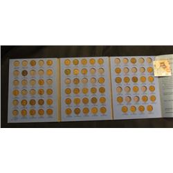 Partial Lincoln Cent Set 1909-1940 (57) Coins in Whitman Coin Folder. Including 1909, 13 D, 15 D & 3