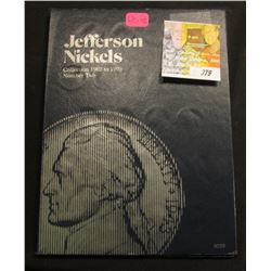 Set Jefferson Nickels 1962-1995D (66) Coins VF-Unc. in Whitman Coin Folder.