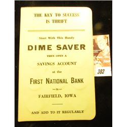 "(30) Silver Mercury & Roosevelt Dimes in Dime Saver ""First National Bank, Fairfield, Iowa. Booklet."