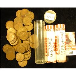 1919, 1920 & 1929 Circulated Lincoln Cent Rolls.