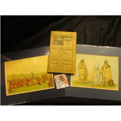 "Pair of Early Prints of Native Americans, matted approximately 5"" x 7"" each; & vol. 1 ""Big 5 Railroa"