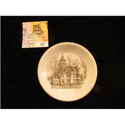 "3 3/4"" Souvenir Saucer ""Monona County Court House, Onawha, Ia."", reverse ""Wheelock Made in Germany f"