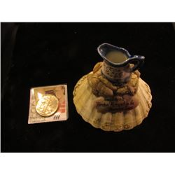 "Souvenir Pitcher with Sea Shells ""Compliments Thornton Mercantile Co. Thornton, Iowa""; & 1944 D Walk"
