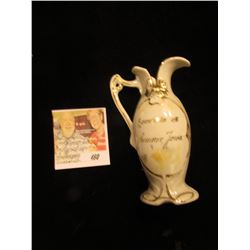 "Very Ornate China Cream Pitcher ""Souvenir of Sumner, Iowa."""