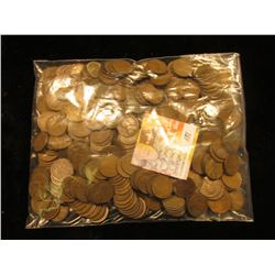 Approximately 500 U.S. Wheat Cents including lots of earlier dates.