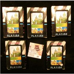 (5) New Packs of Iowa Souvenir Playing Cards.