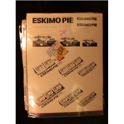"(16) Eskimo Pie Proofs; ""Primley's California Fruit Chewing Gum"" Advertisement; (4) mint condition,"
