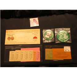 Reader's Digest Savings Card with a pair of Uncirculated Wheat Cents taped to it; (2) Different Mond