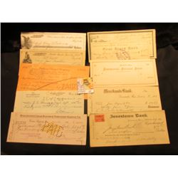 (10) Old Bank Checks dating back to the 1880s, some Revenue Stamps, most cancelled.