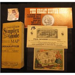 "1916 Edition ""Dreher's Simplex Street and House Number Guide…Map of Indianapolis""; flyer ""The Great"