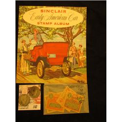 """Sinclair Early American Car Stamp Album""; (4) Different Ohio Sales Tax Stamps; & 1914 P & 15 P Barb"