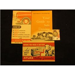 """How to Prevent roadside flats increase Tire mileage…"" booklet by A. Schrader's Son""; ""Motorist 's H"