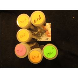 (6) Rolls of Old U.S. Wheat Cents in plastic tubes.