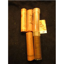 1959P, 59D, 65P, 93D, & 97D Original BU Rolls of Lincoln Cents. The last roll could be missing a few
