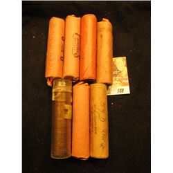 (2) 1959P, (4) 59D, & 69D Original BU Rolls of Lincoln Cents. (7 rolls total)  Approximately 350 pcs
