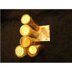 1955D, 57D, 60D Small Date, 63D, & 70 S Solid date Rolls of Gem BU Lincoln Cents in plastic tubes.