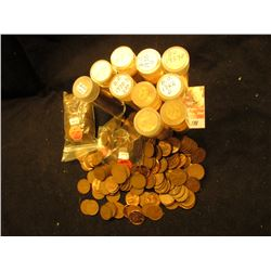 Approximately (500) Mixed Wheat and memorial cents, many in plastic tube, lots of BU material.