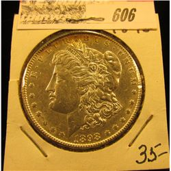 1898 P Morgan Silver Dollar, Choice AU
