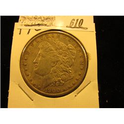 1900 P Morgan Silver Dollar, EF.