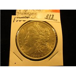 1900 P Morgan Silver Dollar, AU.