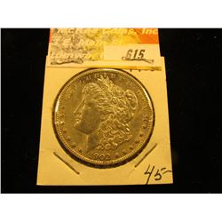 1902 P Morgan Silver Dollar, AU.