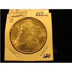 1887 O Morgan Silver Dollar. BU