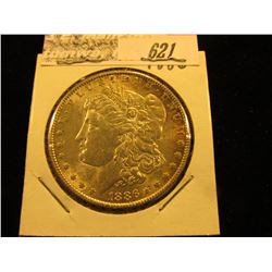 1886 P Morgan Silver Dollar. AU.