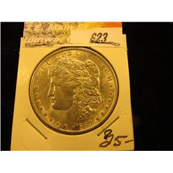 1891 P Morgan Silver Dollar. BU