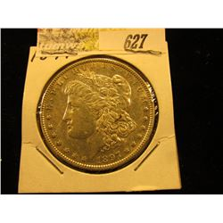 1891 P Morgan Silver Dollar. AU