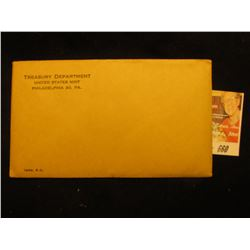 1963 US Proof Set Original as Issued.  Unopened Envelope.