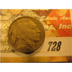 1913 D Type-1 Buffalo Nickel. VF.