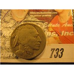 1914 D Buffalo Nickel. F.