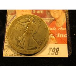 1916 S Walking Liberty Half Dollar. G