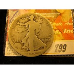 1916 D Walking Liberty Half Dollar. G