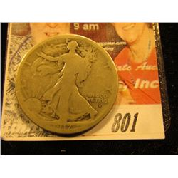 1917 S Obv. Walking Liberty Half Dollar. G