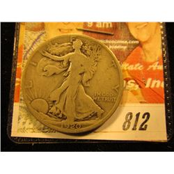 1920 S  Walking Liberty Half Dollar. G