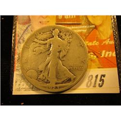 1923 S  Walking Liberty Half Dollar. G