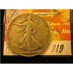 1929 D  Walking Liberty Half Dollar. F.