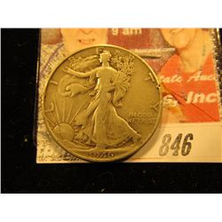 1946 Walking Liberty Half Dollar. VF.