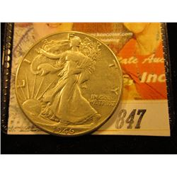 1946 D Walking Liberty Half Dollar. AU.