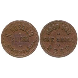 H. Russel's Saloon Token Brookside Alabama