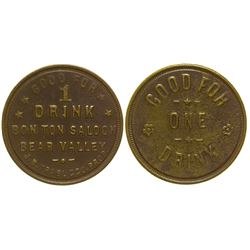 Bon Ton Saloon Token Bear Valley California