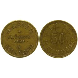 Mill Creek Camp 50c Token Los Molinas California