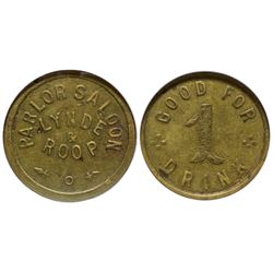 Parlor Saloon Token San Jose California